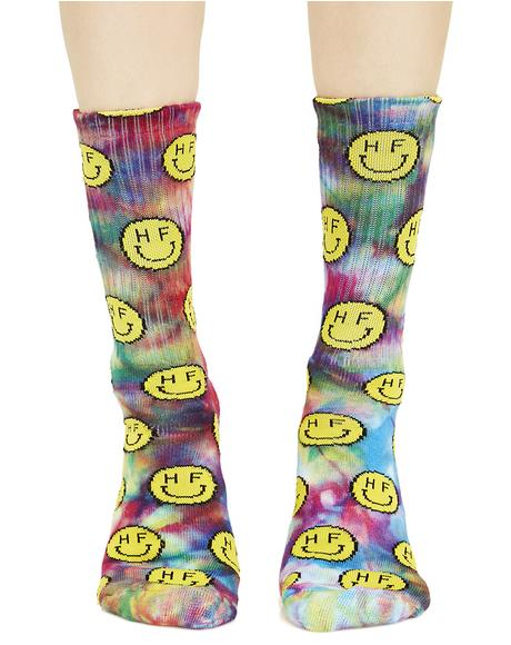 Trippy Smiles Crew Socks