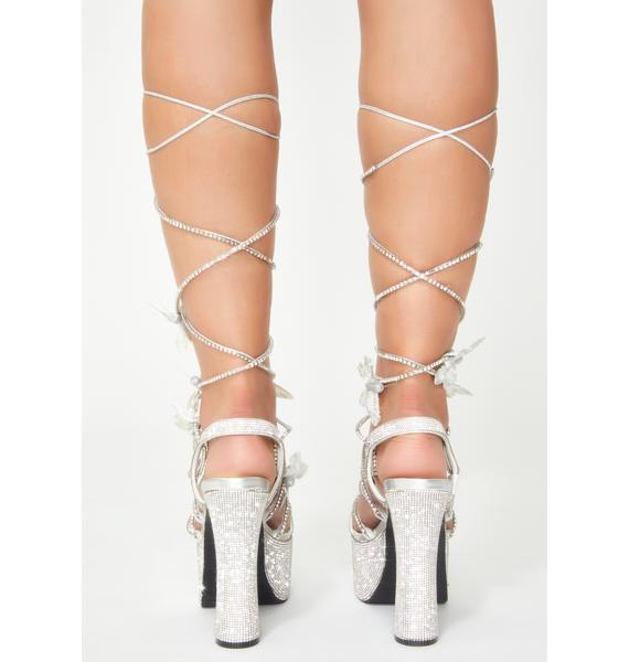 Poster Grl Blindin' Pixie Queen Lace Up Heels