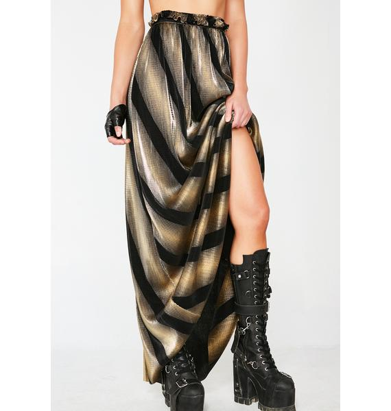 Golden Dimensional Barbarian Skirt