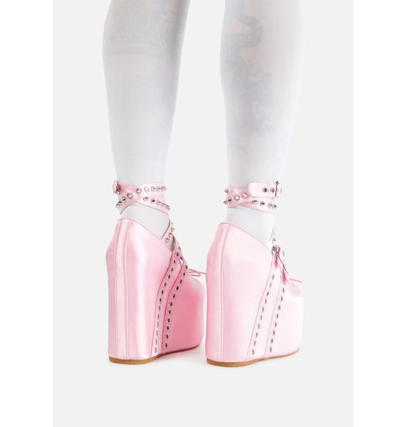 Sugar Thrillz Sweet Sonata Platform Ballet Heels