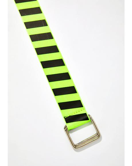 Danger Zone Striped Belt