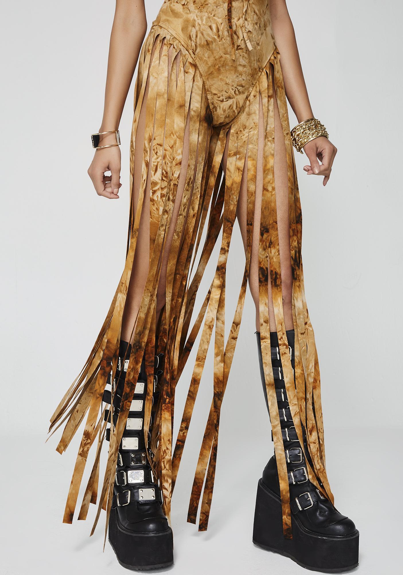 Sunrise Warrior Fringe Bodysuit