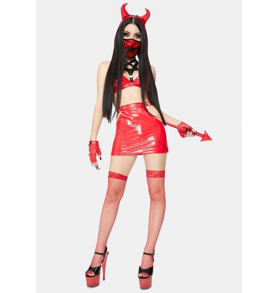 Dolls Kill Hellish Vision Devil Costume