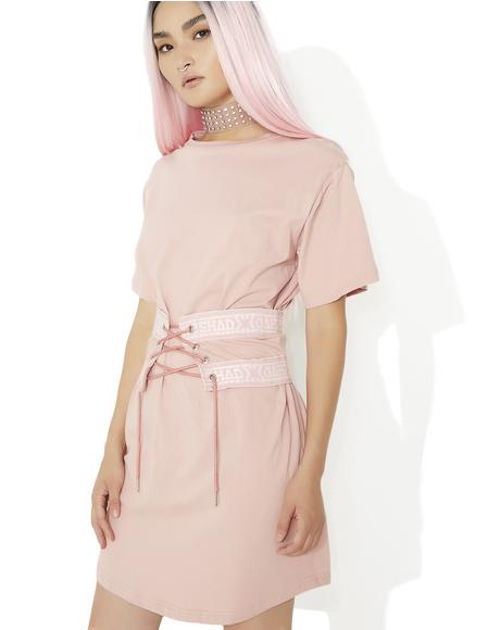 Blossom Lace Up Cincher T Dress