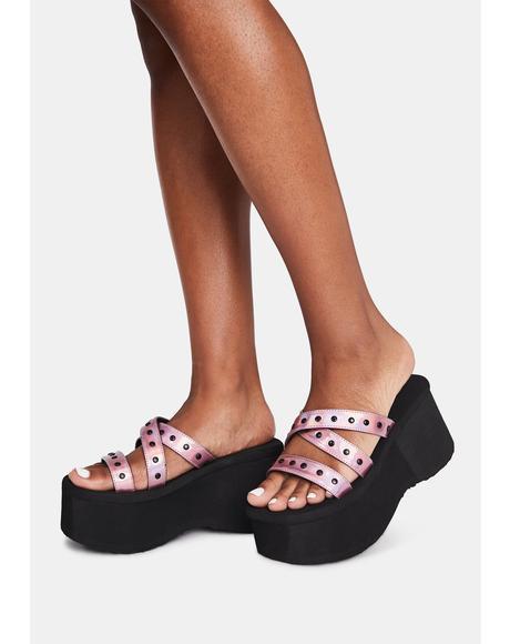 Pixie Goth Beach Platform Sandals