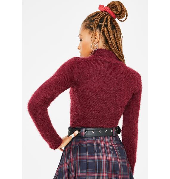 Current Mood School Daze Fuzzy Sweater