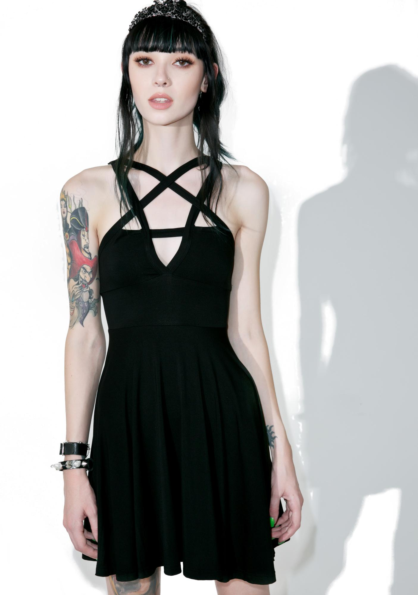 cd1a56bab4c7 Killstar Magi Penta Skater Dress