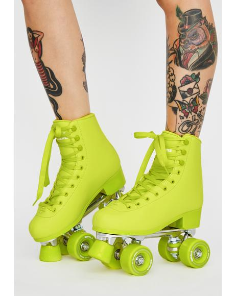 Voltage Green Impala Quad Skates