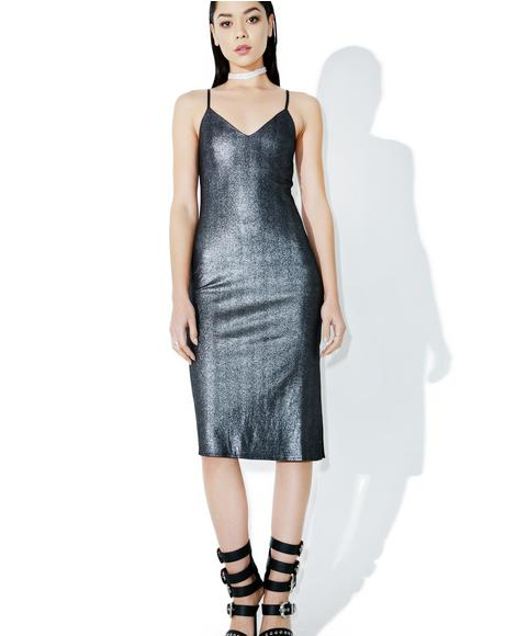 Gunmetal Blitz Slip Dress
