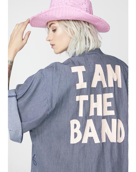 I Am The Band Graphic Kimono