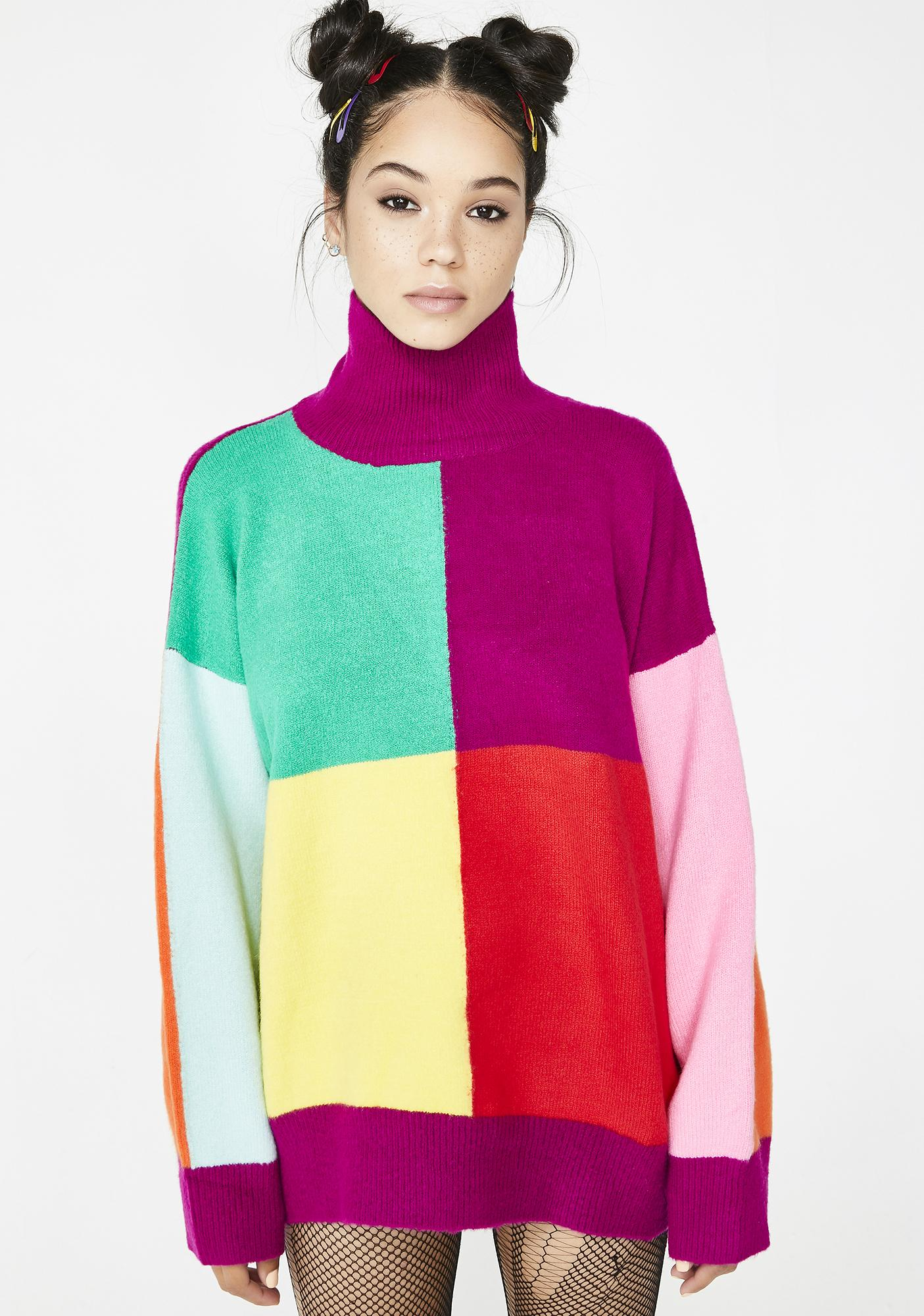 e174d24c3a Easy As Do Re Mi Colorblock Sweater