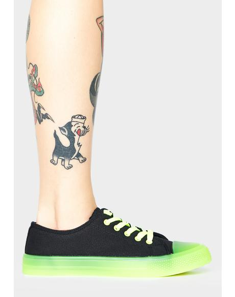 Lime Sonic Sabotage Low Top Sneakers