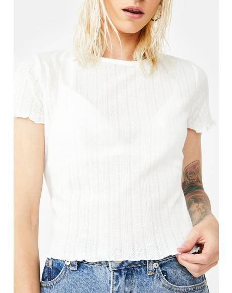 Lettuce Edge Crop Tee