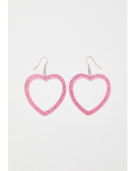 Sweet Love Glitter Earrings