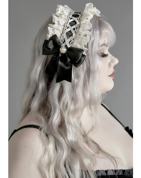 Mournful Mind Lace Headband