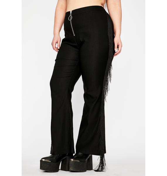 Club Exx Can't Fight The Moonlight Fringe Pants