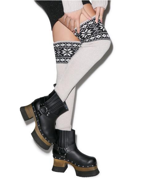 Snowed In Thigh High Socks