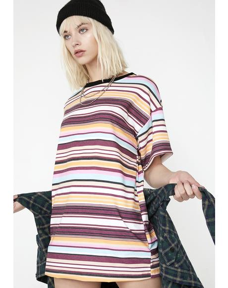 Prime Time Striped Tee
