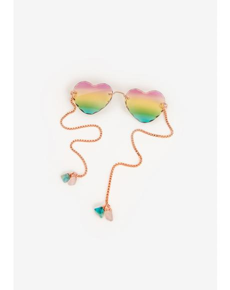 Two Hearts That Beat As One Sunglasses