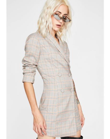 Clockin' Out Blazer Dress