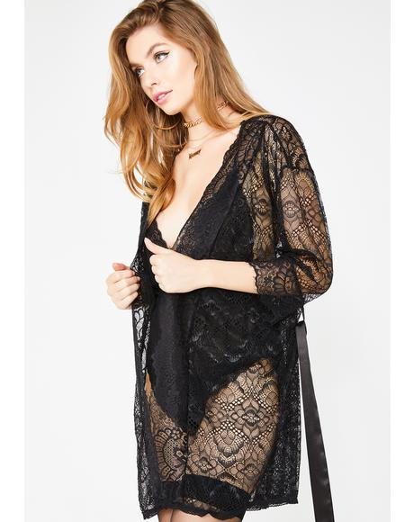 Enchanting Nights Lace Robe
