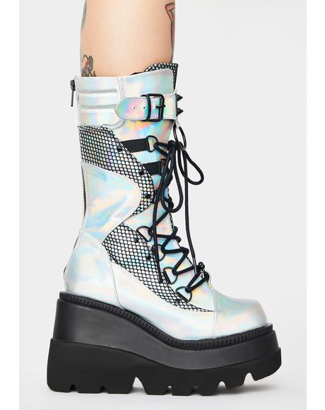 Holographic High Rise Shaker Boots
