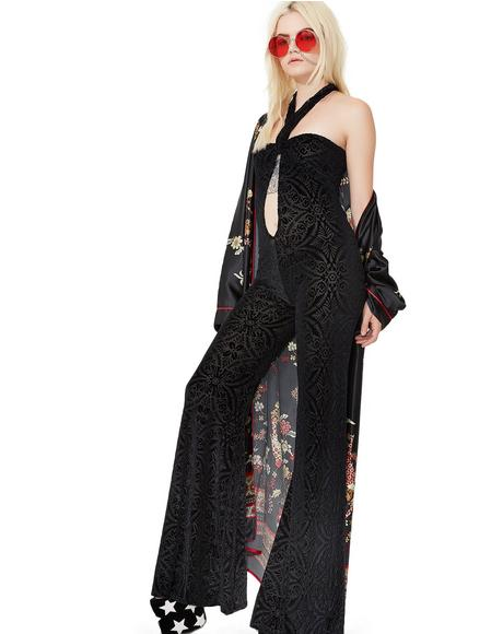 Midnight Burnout Velvet Jumpsuit