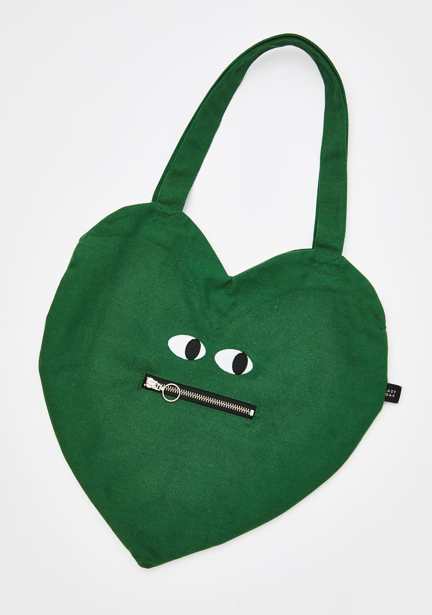 Lazy Oaf Zippy Mouth Heart Bag
