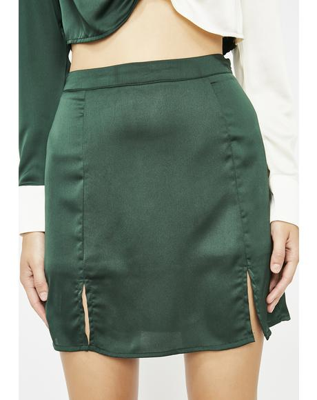 Dank Saucy Lady Satin Skirt