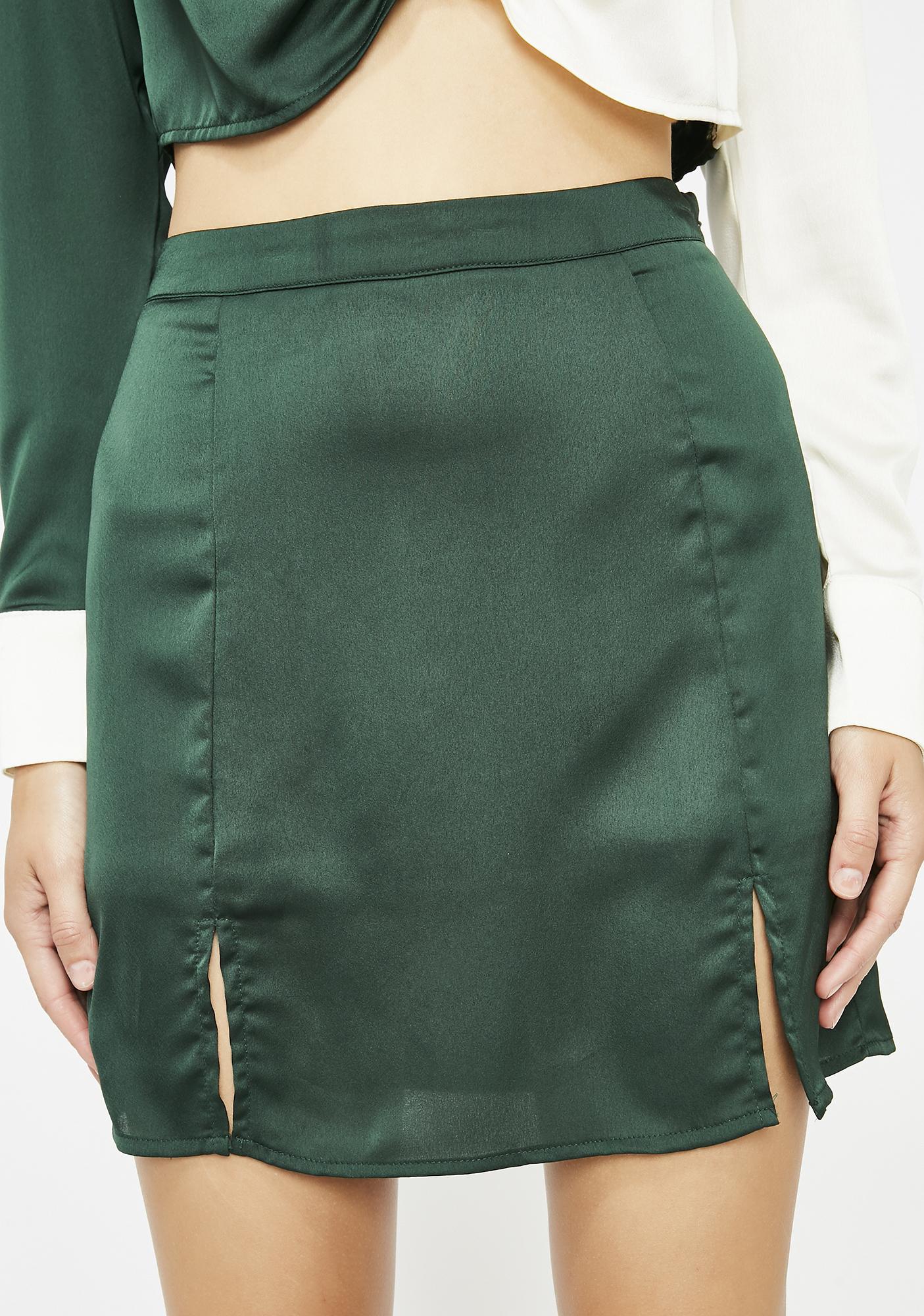 9b1e64e9ddd Dank Saucy Lady Satin Skirt