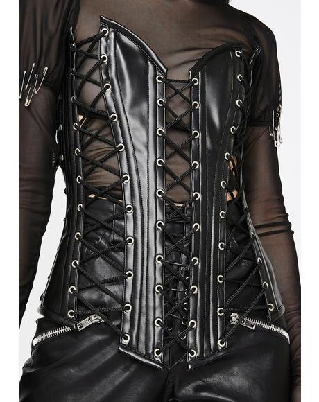 Top Drawer Lace-Up Corset