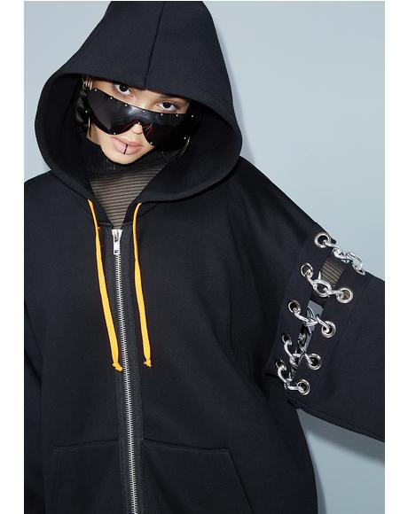 Upper-Hand Chained Hoodie