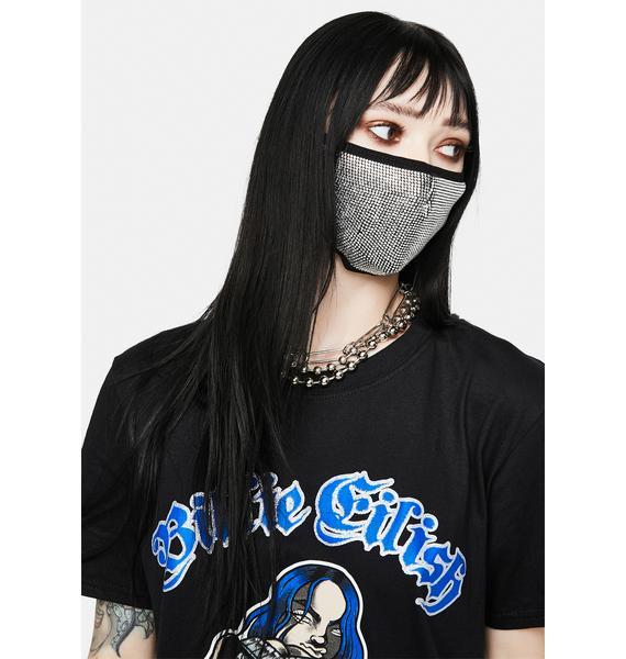 Matt Sarafa Icy Rhinestone Face Mask