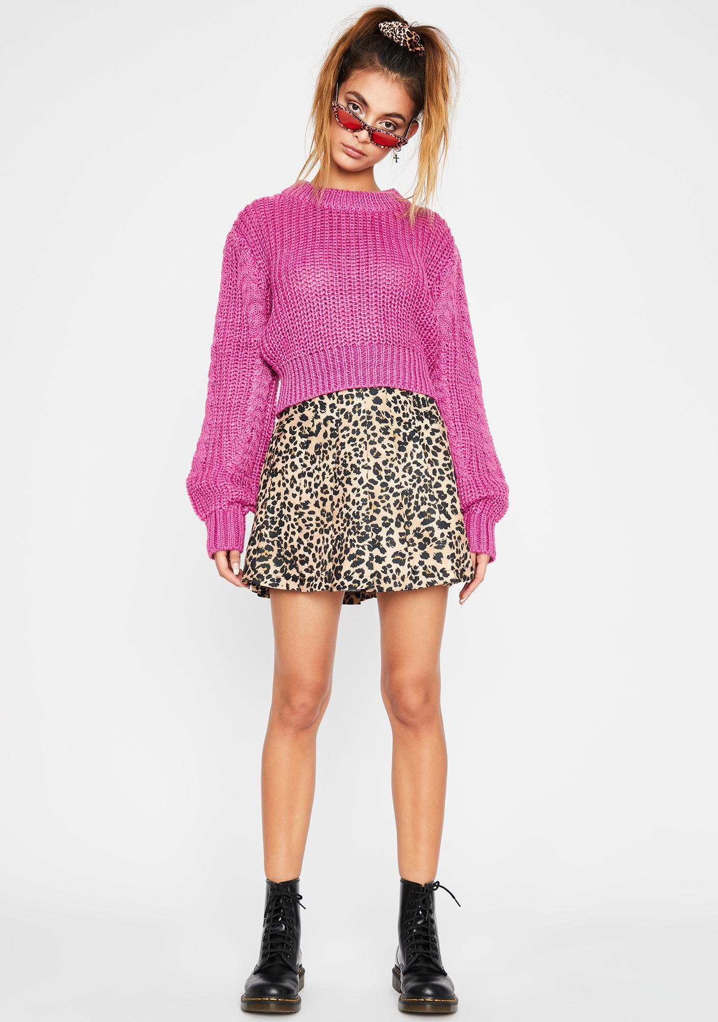 Grape Bae Mode Knit Sweater