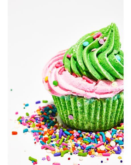 Sour Watermelon Candy Cupcake Bath Bomb