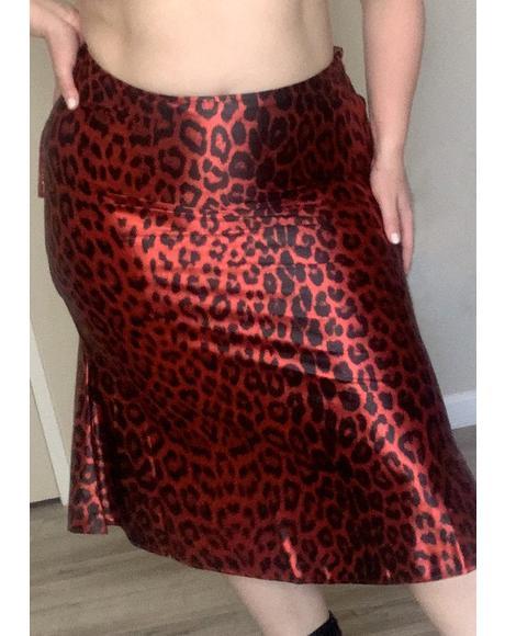 On Good Behavior Midi Skirt
