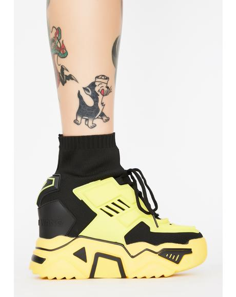 Yellow Guilty Pleasures Platform Sneakers