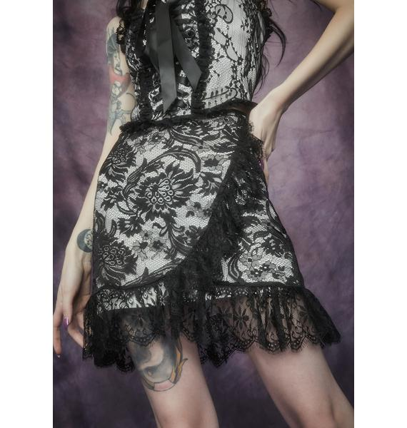 Widow Newest Nightshade Lace Ruffle Skirt