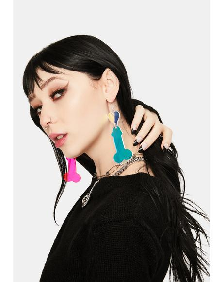 Love Dick Iridescent Earrings