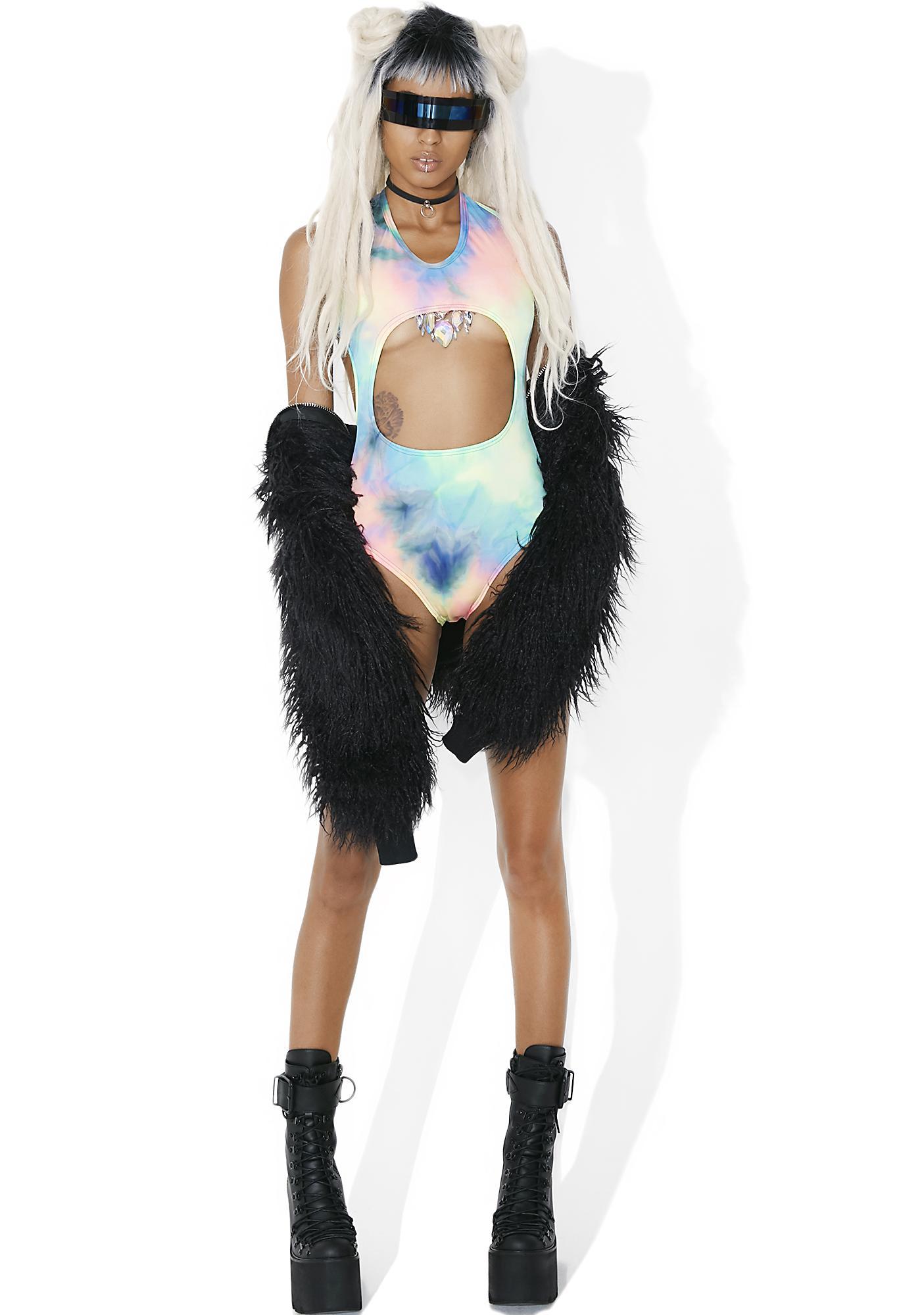 Mi Gente Clothing La Tortura Melted Rainbow Bodysuit