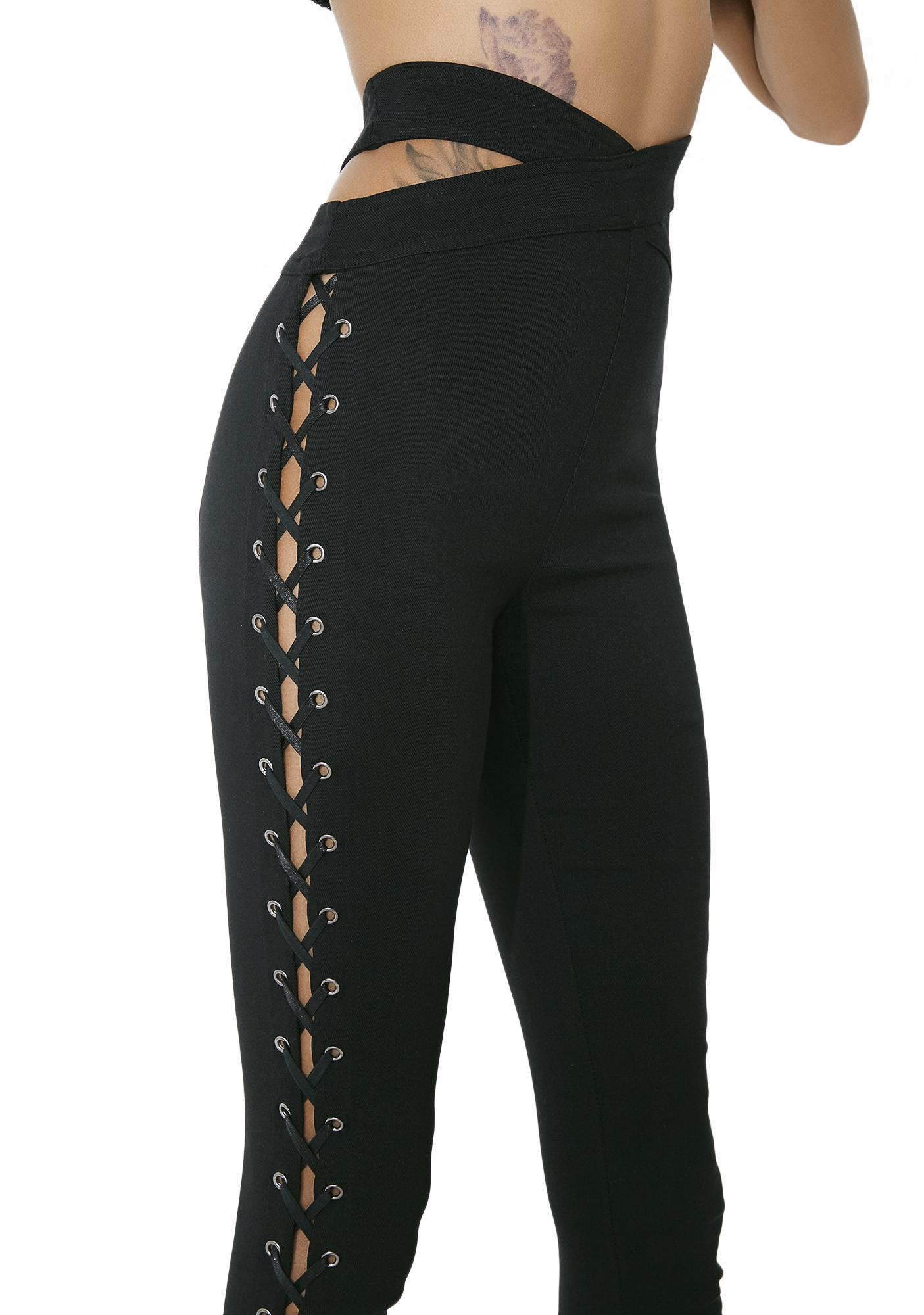 Flip Side Lace-Up Leggings