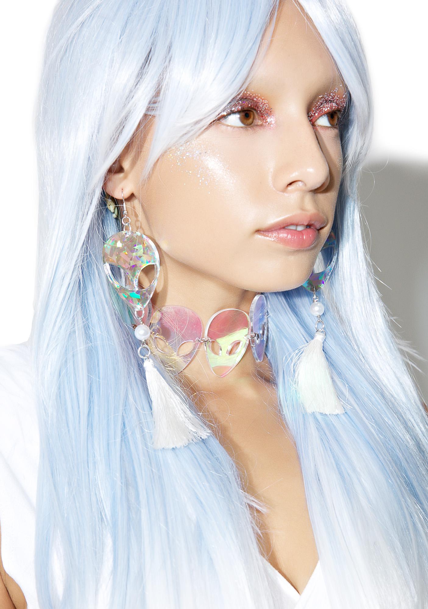 Trixy Starr Alien Tassel Earrings