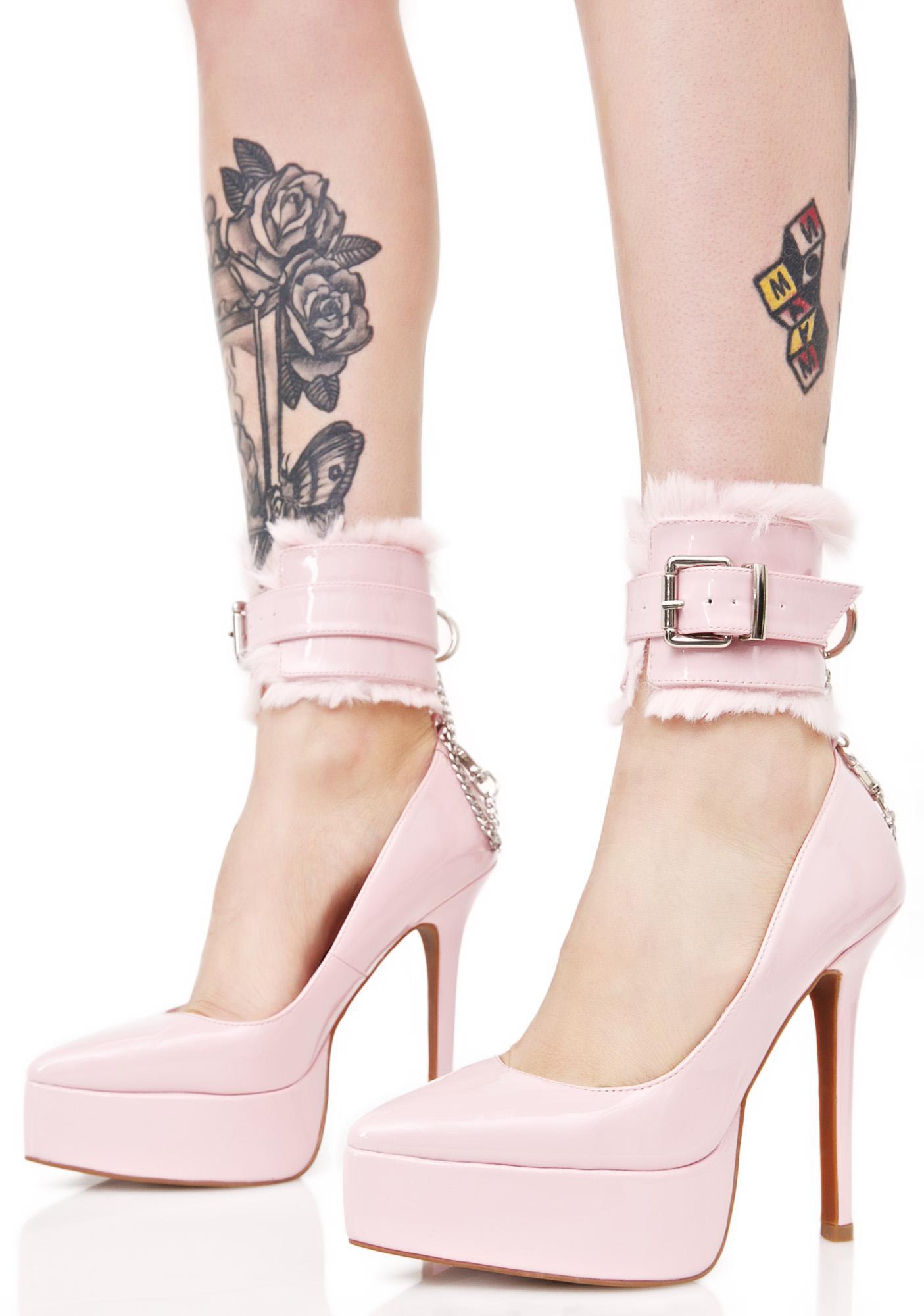 Sugar Thrillz Kitten Cuff Heels