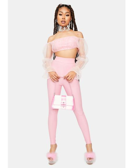 Sweet It's A Serve Organza Top And Leggings Set