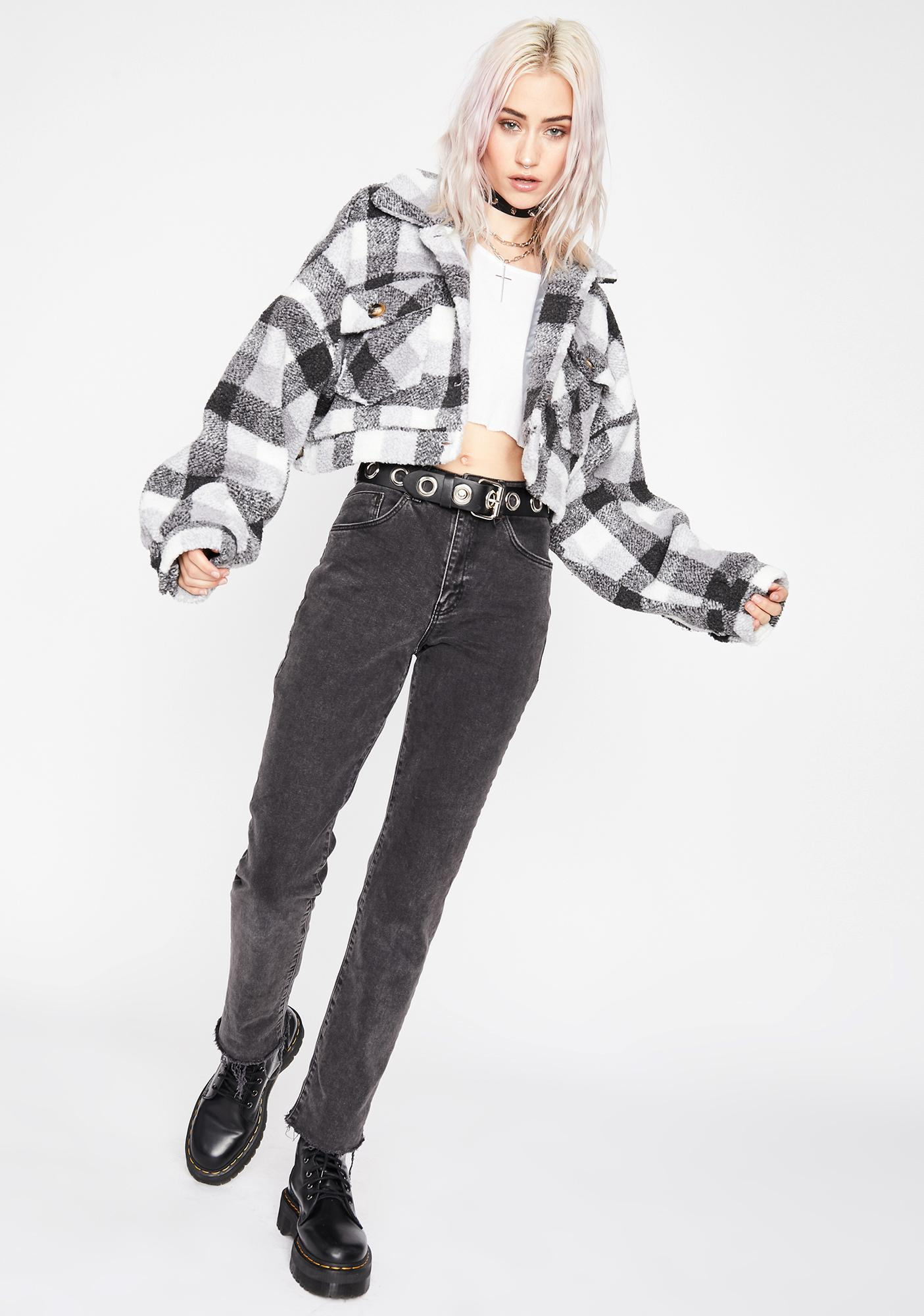 Plaidly Yours Sherpa Jacket