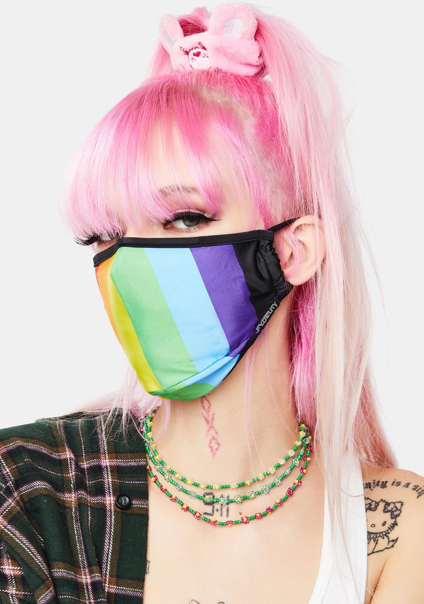 FYDELITY Pride Rainbow Face Mask