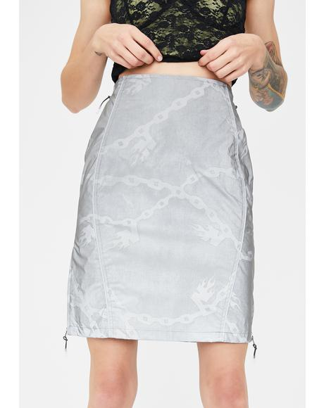Reflective Chain Print Skirt