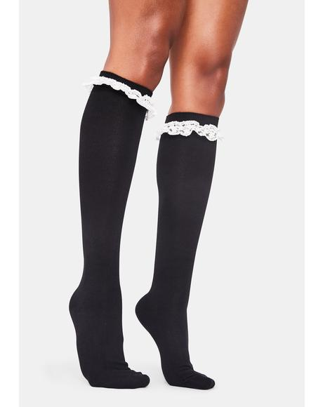 Night Feeling Blessed Knee High Socks