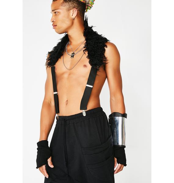 Club Exx Dark Magic Fur Suspenders