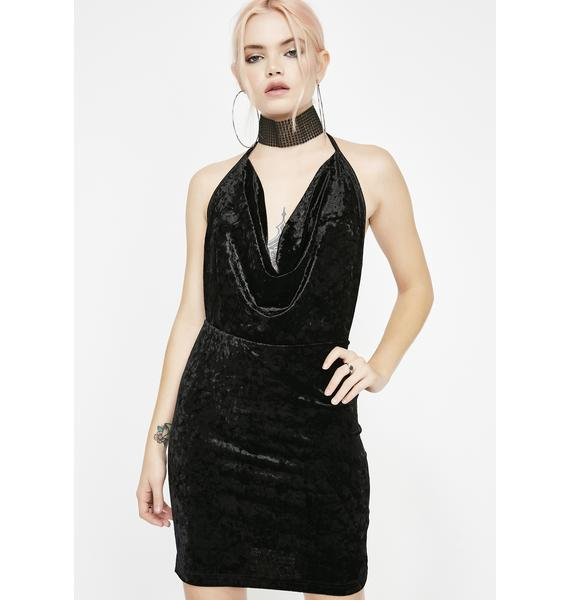 Till Sunrise Velvet Dress